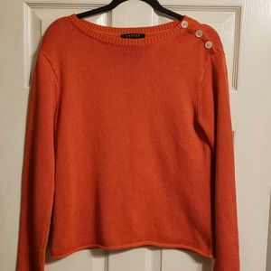 Lauren Ralph Lauren Orange Sweater. Size M